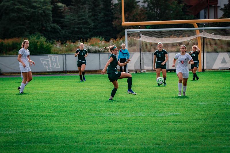 Holy Family Girls Varsity Soccer vs. Shakopee, 9/21/19: Maeve Kelly '22 (14)