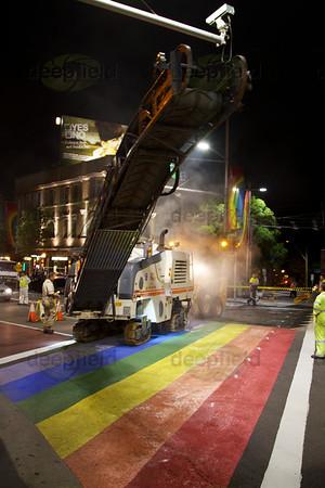 Rainbow Crossing destruction 10 April 2013
