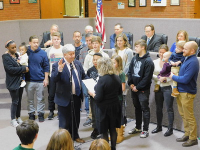 Medina council reps sworn in