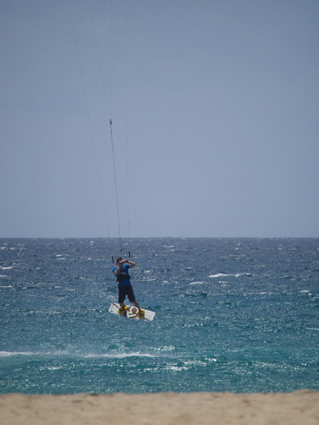 Huge waves, clear Atlantic waters (22C) & lots of wind make for a wind/kite surfing paradise. These guys are common around Cape Verde as they also hold International Competitions here. They also make a good photo subject especially when leaving the water :-)