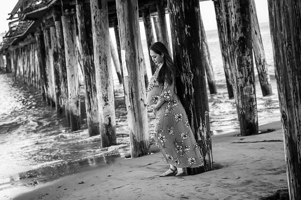 Tea's Maternity Photos at Capitola Beach