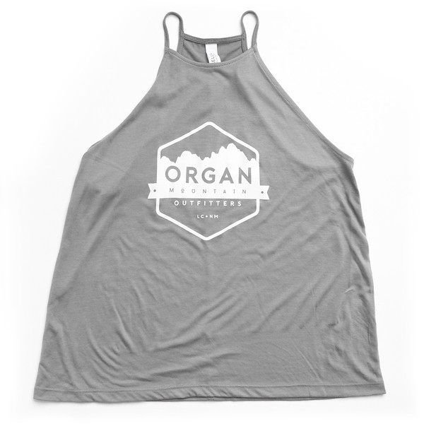 Organ Mountain Outfitters - Outdoor Apparel - Womens - Flowy High Neck Tank - Heather Stone.jpg