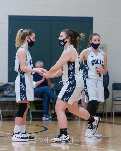 2021-03-08 Hillsdale Academy JV and Varsity Girl's Basketball vs. Athens