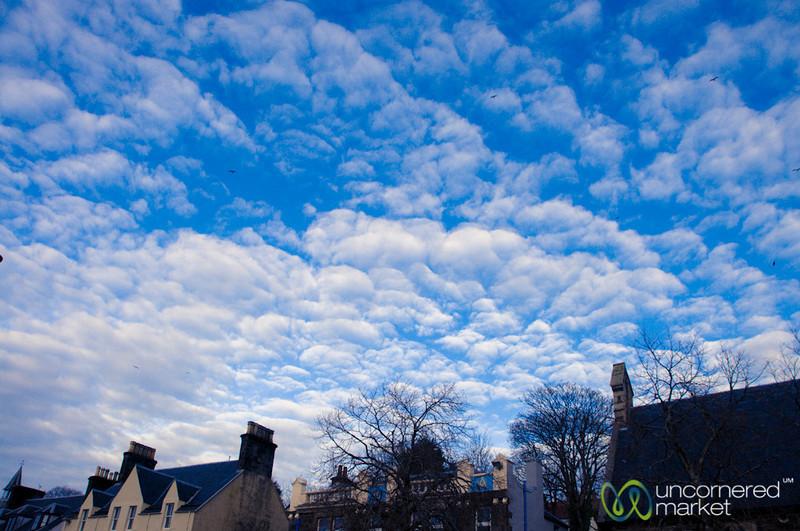 Portree with Blue Skies - Isle of Skye, Scotland