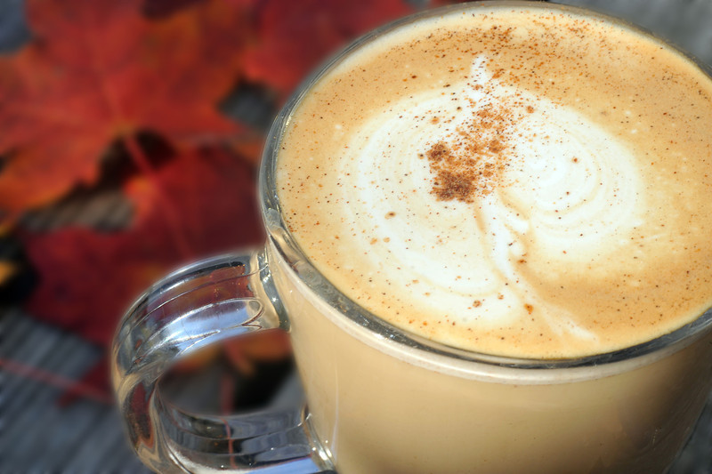 Pumpkin-spiced latte at Roos Roast in Ann Arbor.
