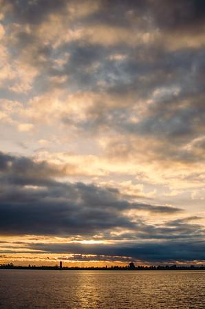 Cloudy Merced Sunset