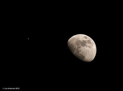 Moon and Jupiter 1/21/13
