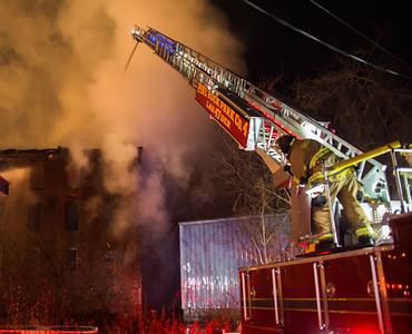 3 Alarm Vacant Building Fire - 40 Caroline St, Derby, CT - 12/4/16