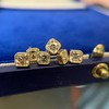 .78-.82ctw Asscher Stud Earrings, in Yellow Gold 5