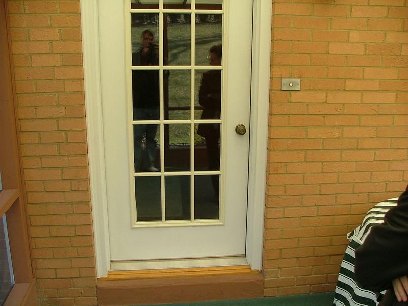 back door (from w/in screen porch)