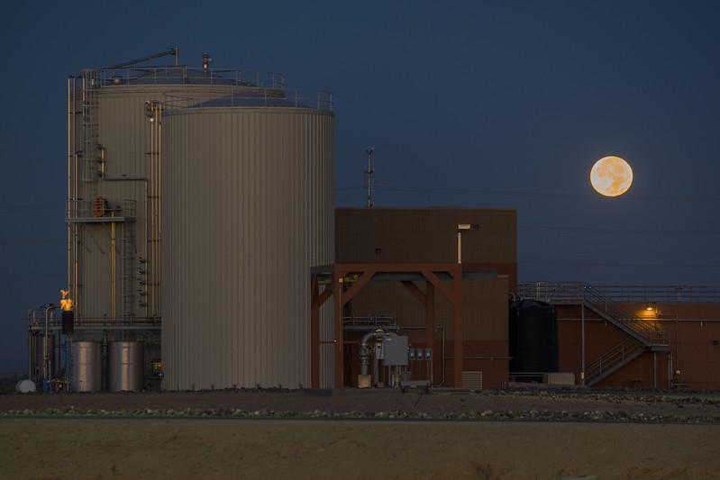 Super Moon At Sunrise