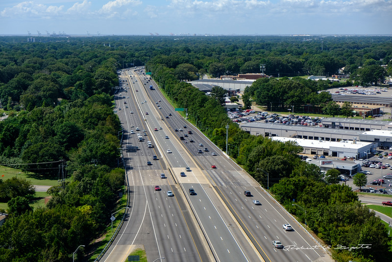 Freeway near Norfolk, VA airport