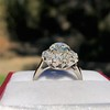 2.87ctw old European Cut Diamond Spray Ring GIA J SI1 11