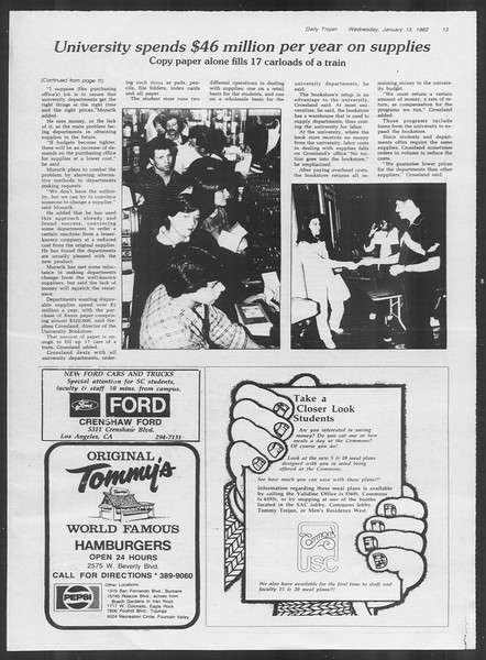 Daily Trojan, Vol. 91, No. 2, January 13, 1982