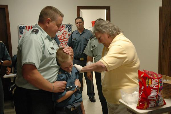 Flu Shots for Cadets