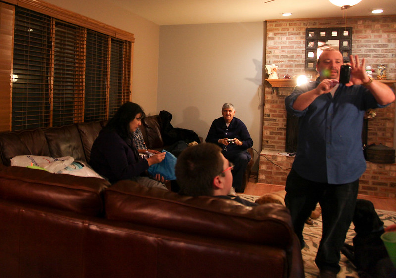 Hanging out at the Lawlor house for Thanksgiving in Oak Forest, Illinois on November 25, 2010.  (Jay Grabiec)