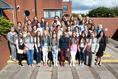 This year 50 Our Ladys girls achieved 8,9,10,11 or 12 A*/A grades in their GCSE exams. Many of these top achieving girls are pictured with principal Ms Geraldine Pettigrew, Vice Princiapls Mrs Teresa McAllister and Fiona McAlinden and the Head of Year Mrs Grainne Gillespe. R1435011