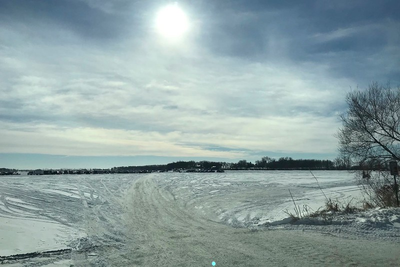 Why don't we drive out onto Lake Allie and see some ice racing.