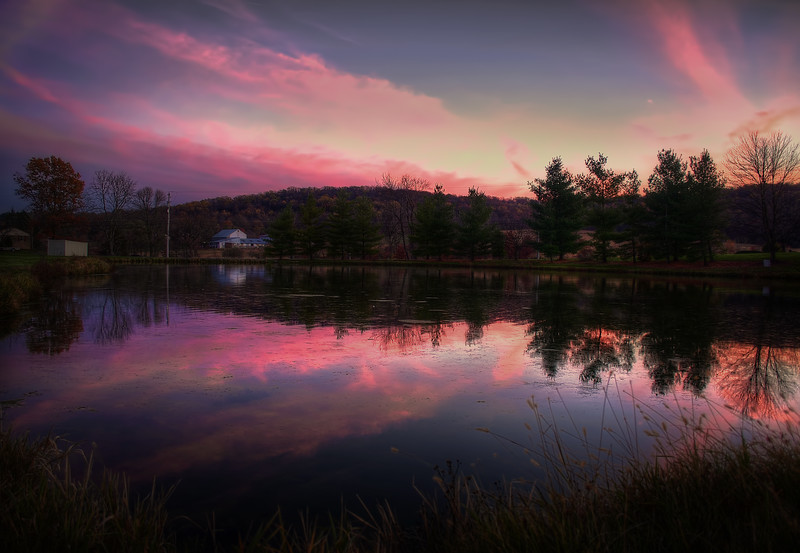 sunset - pond near middlecreek 11-9-14(p).jpg
