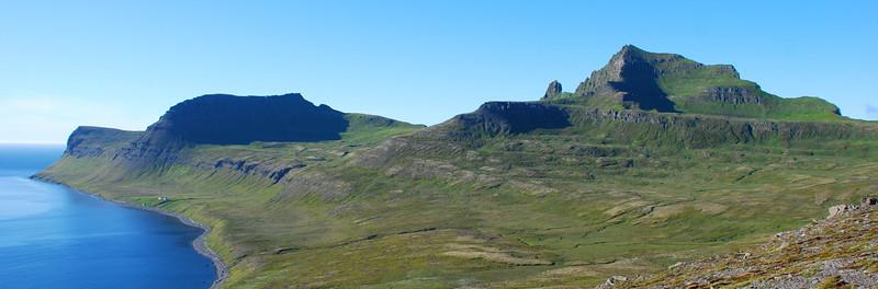 Horn, Miðfell, Jörundur, Kálfatindar, Innstidalur