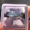 1.00ctw Baguette Half Eternity Band 18