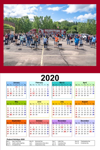 "2020 Calendar prints availble locally 12""x18"" is $10 and 20""x30"" are $20 To order Email me at norbertsgallery@gmail.com"
