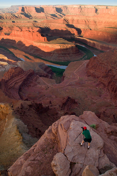 Photographer at Dead Horse Point