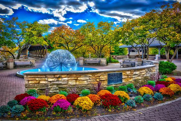 Naperville Riverwalk - Dandelion Fountain