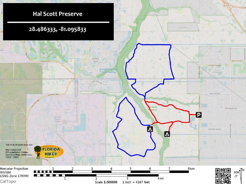 Hal Scott Preserve Trail Map