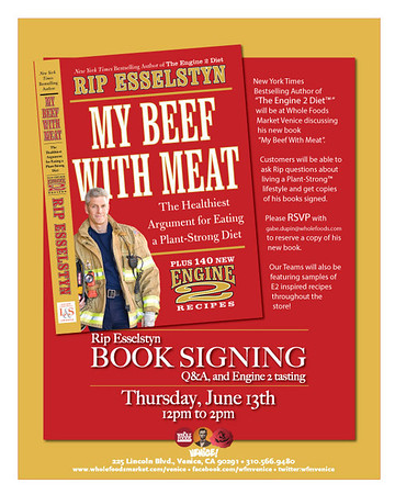 Rip Esselstyn, New York Times Bestselling Author of the Engine 2 Diet  at Whole Foods Market Venice