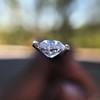 1.03ct Antique Pear/Heart Shape Diamond GIA F VS2 9