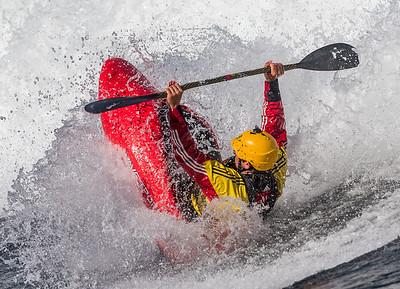 Kayaking at Skookumchuk Narrows, BC