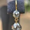 2.00-2.50ctw (est) Georgian Collet Double Drop Earrings 20
