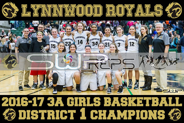 2016-17 DISTRICT 1 3A GIRLS CHAMPIONS POSTER