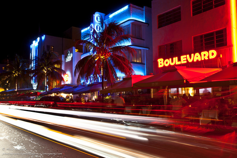 Miami and South Beach night landscapes