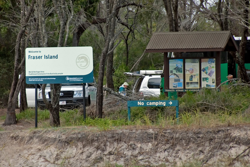 Sign, Fraser Island - Queensland, Australia