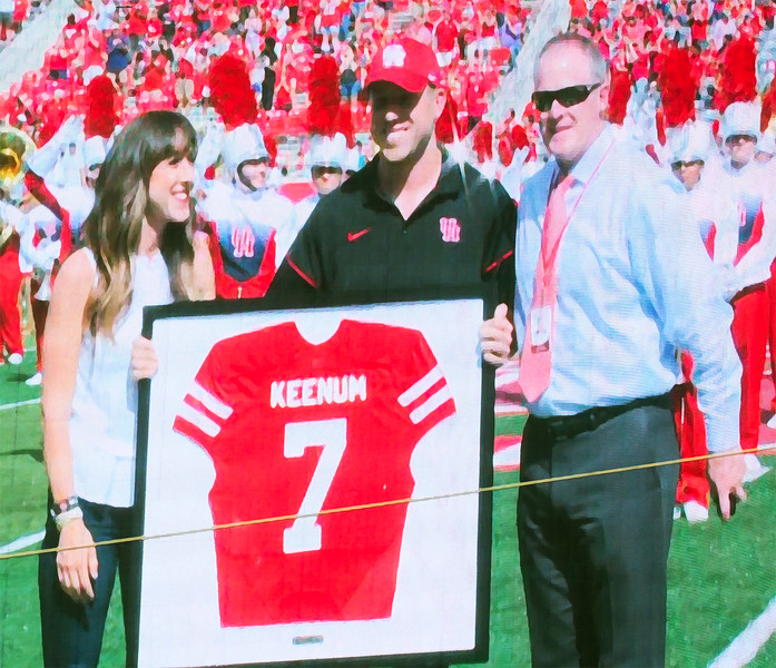 Case's jersey No. 7 is being retired in honor of his career, here.