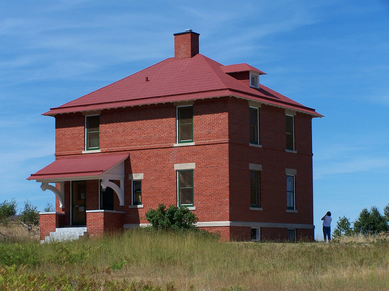 The original light keeper's dwelling only had one story, with the second story added in 1909 along with an additional light keepers building that same year.