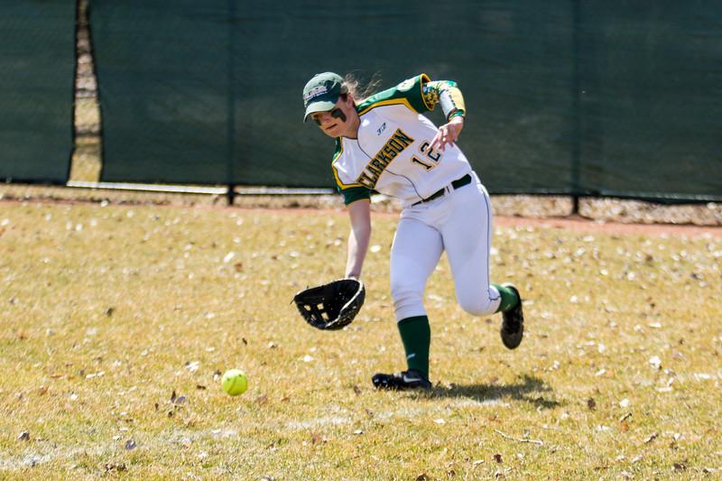 Clarkson Athletics: Women Softball vs. RIT. Game 1. Clarkson Win 5 to 2