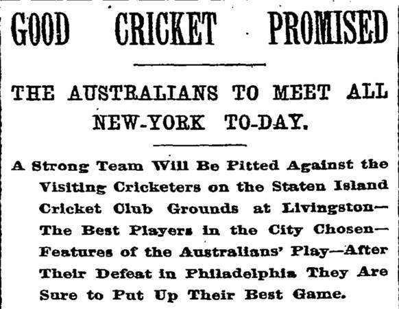 Australians vs All New York - Oct 1893