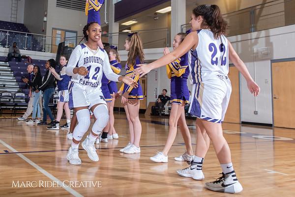 Broughton girls varsity basketball vs Millbrook. February 15, 2019. 750_7254