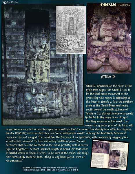 Stela D. Copan ruins, Honduras. February 27, 1987