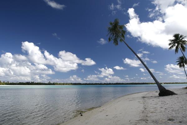 Views while bicycling around Maupiti.
