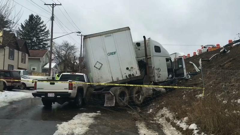 US 30 Semi accident
