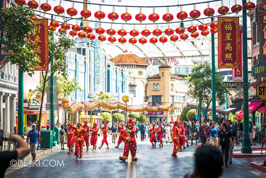 Universal Studios Singapore Park Update February 2018 Chinese New Year - Majestic Dragon Trail / Beginning Woody Woodpecker