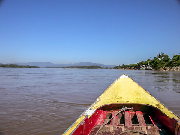 Boat trip on the Mekong from Thailand to Laos, Golden Triangle