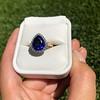 7.00ctw Tanzanite and Diamond Halo Ring 13