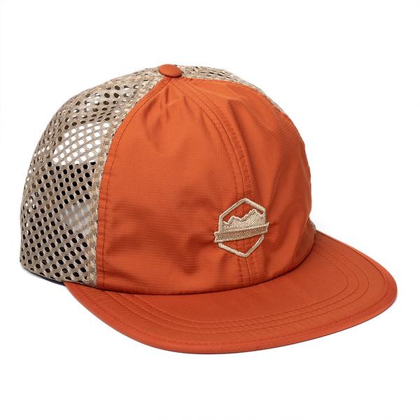 Organ Mountain Outfitters - Outdoor Apparel - Sportswear Headwear - OMO Performance Mesh Cap - Orange Khaki.jpg