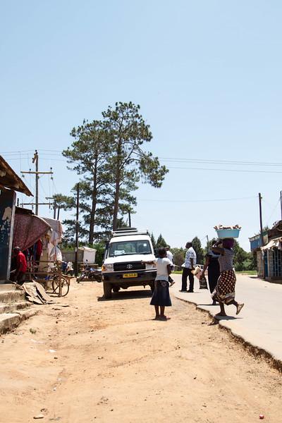 The street outside the market in Mzuzu.