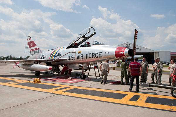 F-100F Super Sabre Arrival 8/19/10